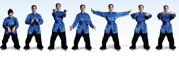 illustration of qigong exercise