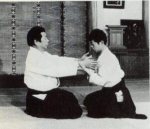 illustration: morihiro saitō at a kokuyo-ho demonstration