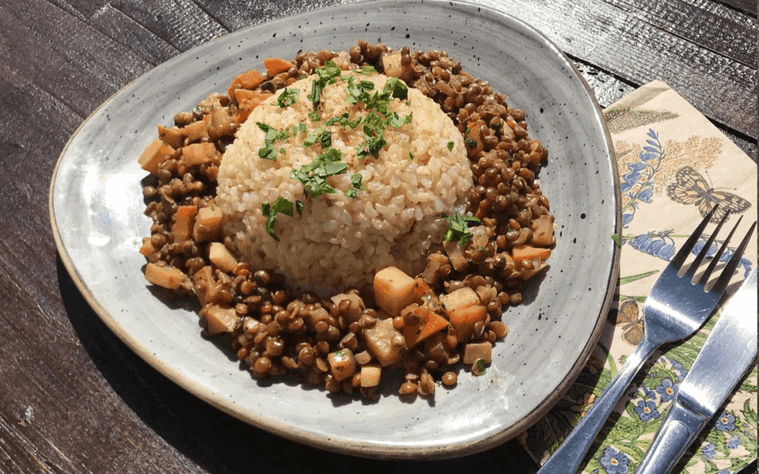 Healthy Recipes: Lentils with Herbs and Brown Rice